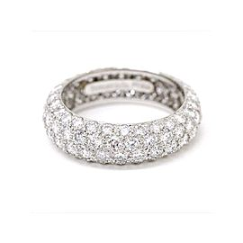 Tiffany & Co. Platinum Etoile 2.90ct. Diamond Band Ring Size 5.5