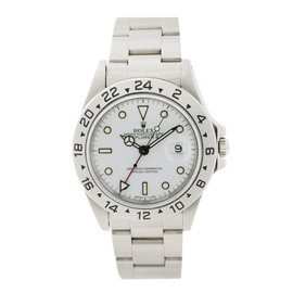 Rolex Explorer II 16750 Stainless Steel White / Cream Dial Automatic 39mm Mens Watch