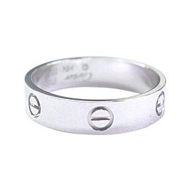 Cartier Love Platinum Ring Size 11.5