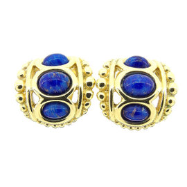 Christian Dior Gold Tone Hardware With Color Stone Earrings