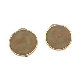 Hermes Gold Tone Hardware Earrings