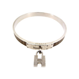Hermes Silver Tone Hardware Kelly Bracelet