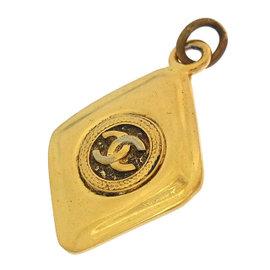 Chanel Coco Mark Gold Tone Hardware Pendant