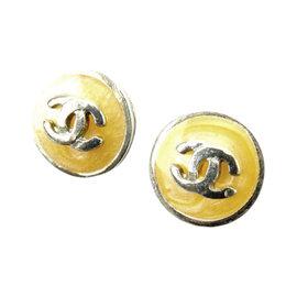 Chanel Silver Tone Hardware Coco Marco Earrings