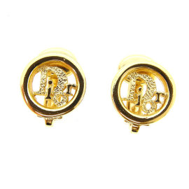 Christian Dior Gold Tone Hardware Earrings