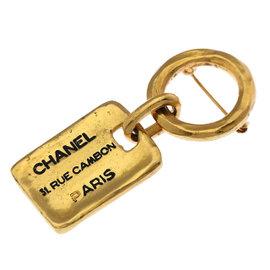 Chanel Gold Tone Hardware Brooch