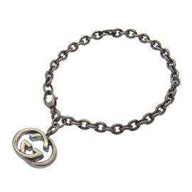 Gucci Silver Tone Hardware Double G Bracelet