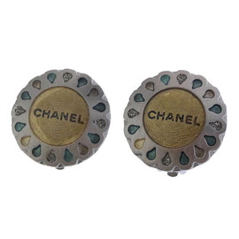 Chanel Gold / Silver Tone Hardware Earrings
