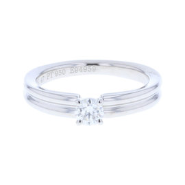 Boucheron PT950 Platinum with 0.2ct Diamond Ring Size 4
