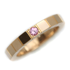 Cartier Lanieres 18K Rose Gold with Pink Sapphire Ring Size 4
