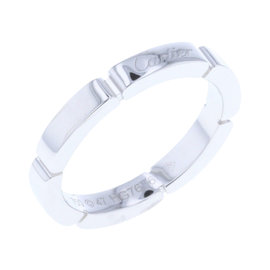 Cartier Myon Panthere 18K White Gold Ring Size 4