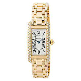 Cartier Tank Americaine 1710/WB7043JQ 19mm Womens Watch