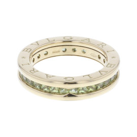 Bulgari B'Zero One 18K Yellow Gold with Peridot Ring Size 5.25