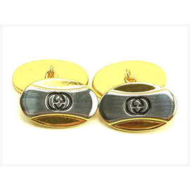 Gucci Gold Tone Hardware Interlocking Cufflinks