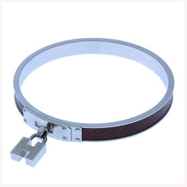 Hermes Silver Tone Hardware Kelly Bangle Bracelet