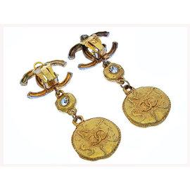 Chanel Gold Tone Hardware Earrings