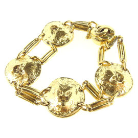 Chanel Gold Tone Hardware Bracelet