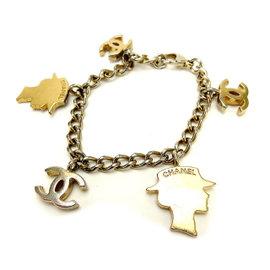 Chanel Gold Tone Hardware Mademoiselle Bracelet