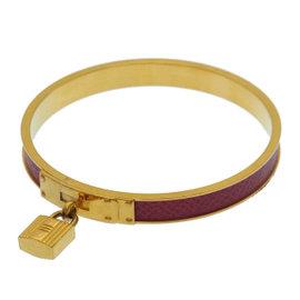 Hermes Gold Tone Hardware Kelly Bangle Bracelet