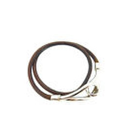 Hermes Silver Tone Hardware and Leather Bracelet