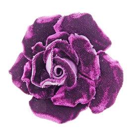 Chanel Velvet Corsage Camellia Brooch