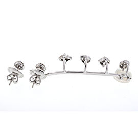 Rock By MARLI 18k White Gold Cuff Diamond Earrings