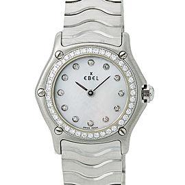 Ebel Classic Wave E9157114 Women Quartz Watch Mop Dial Stainless Steel 23mm