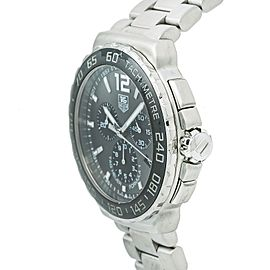 Tag Heuer Formula 1 CAU1115 Mens Quartz Watch Black Dial Chronograph Ss 41mm