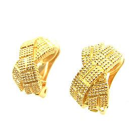 Dior Gold Tone Hardware Earrings