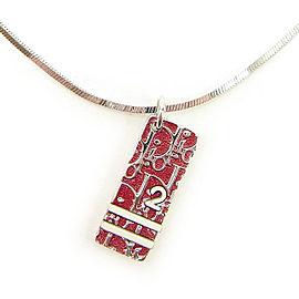 Dior Silver Tone Hardware Trotter Pendant Necklace