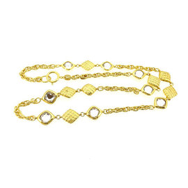 Chanel Gold Tone Hardware with Stone Necklace