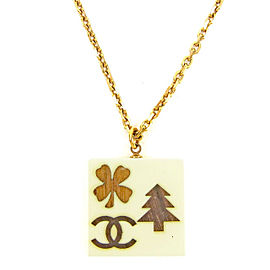 Chanel Gold Tone Hardware and Plastic Necklace