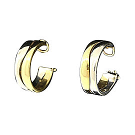 Cartier Hoop Earrings 18K Yellow & White Gold