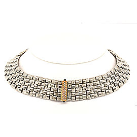 Roberto Coin Appassionata 18K White & Rose Gold 0.31ct Diamond Collar Necklace