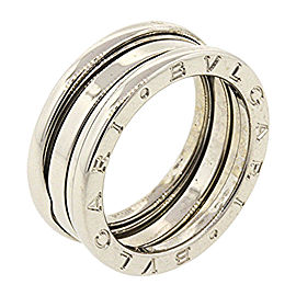 Bulgari B.Zero 1 18K White Gold Wedding Band Ring Size 6.5