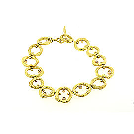 Sarah Graham Pebbles 18K Yellow Gold with 0.18ct Diamond Bracelet