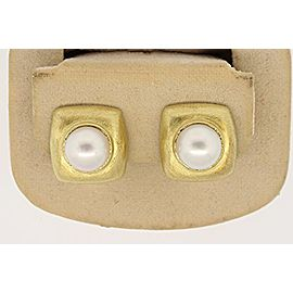 Robin Rotenier Pearl Earrings 18k Yellow Gold Clip OnHeavy 16.4 grams Rare