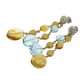 Marco Bicego 18K Yellow & White Gold Topaz, Citrine & 1/2ct Diamond Confetti Dangle Drop Earrings