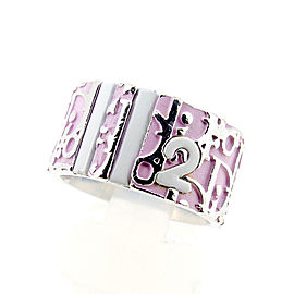 Dior Silver Tone Hardware Trotter Ring Size 7