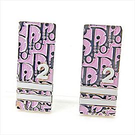 Dior Silver Tone Hardware Trotter Earrings