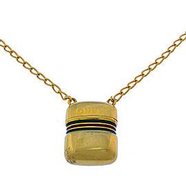 Gucci Gold Tone Hardware Pendant Necklace