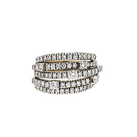 Damiani 18k White Gold 5 Row Diamond San Lorenz