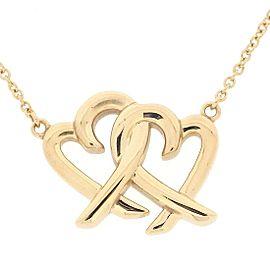 Tiffany & Co. Paloma Picasso Loving Heart 18K Rose Gold Necklace
