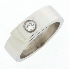 Cartier 18K White Gold with 0.01ct Diamond Ring Size 4.25