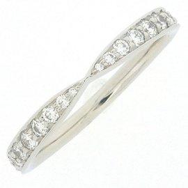Tiffany & Co. PT950 Platinum with Diamond Ring Size 4.75