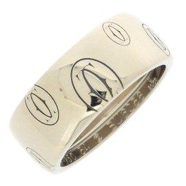 Cartier Happy Birthday Ring 18K White Gold Size 6.75