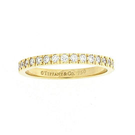 Tiffany & Co. 18K Yellow Gold with 0.17ct Diamond Eternity Ring Size 5.5