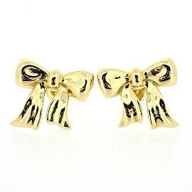 Tiffany & Co. 18K Yellow Gold Ribbon Pierced Earrings