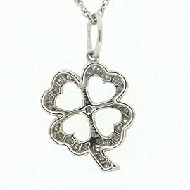 Tiffany & Co. PT950 Platinum with Diamond Clover Necklace