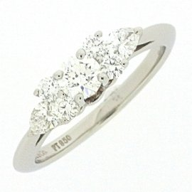 Tiffany & Co. PT950 Platinum with 0.07ct Diamond Ring Size 5